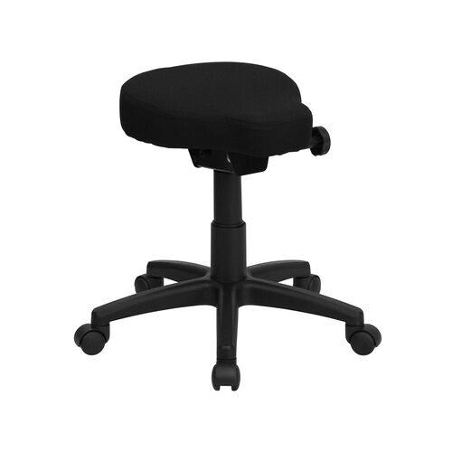 Our Black Saddle-Seat Utility Stool with Height and Angle Adjustment is on sale now.