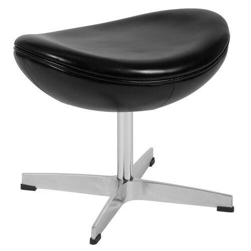 Our Black Leather Ottoman is on sale now.
