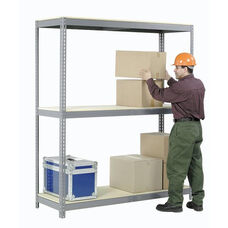 Gray Wide Span Storage Rack Wood Deck - 24
