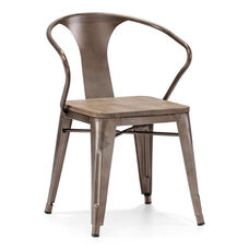 Helix Chair in Rustic Wood