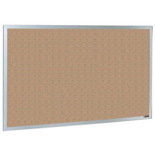 Quick Ship 800 Series Type CO Aluminum Frame Tackboard - Nucork - 96