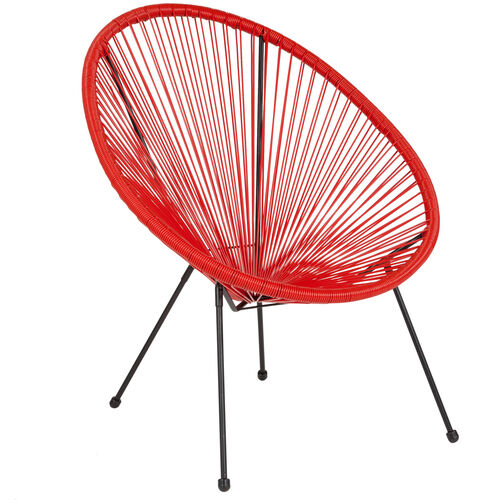 Our Valencia Oval Comfort Series Take Ten Red Rattan Lounge Chair is on sale now.