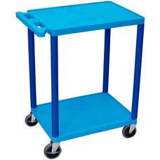 2 Shelf Structural Foam Plastic Utility Cart - Blue - 24