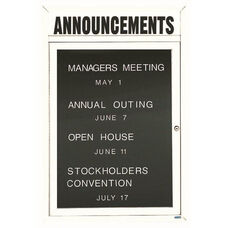 1 Door Indoor Enclosed Directory Board with Header and White Anodized Aluminum Frame - 36