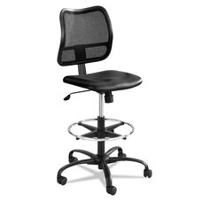 Safco® Vue Series Mesh Extended Height Chair - Vinyl Seat - Black
