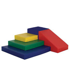 SoftZone® Bright Colors Vinyl Covered Foam Climb and Slide Play Center