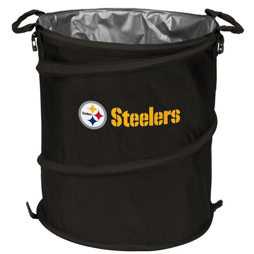 Our Pittsburgh Steelers Team Logo Collapsible 3-in-1 Cooler Hamper Wastebasket is on sale now.