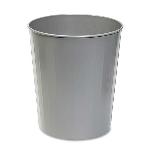 Our Safco® Round Wastebasket - Steel - 23.5qt - Charcoal is on sale now.