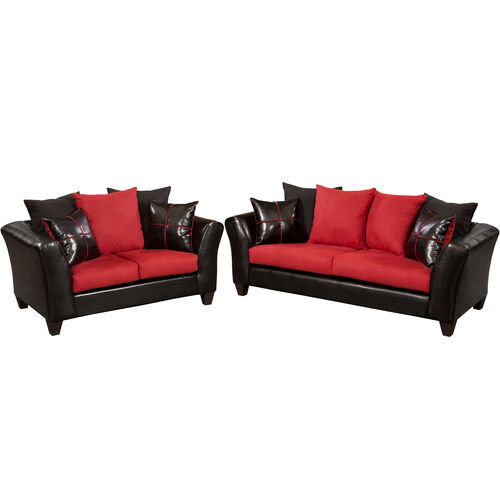 Our Riverstone Victory Lane Cardinal Microfiber Living Room Set is on sale now.