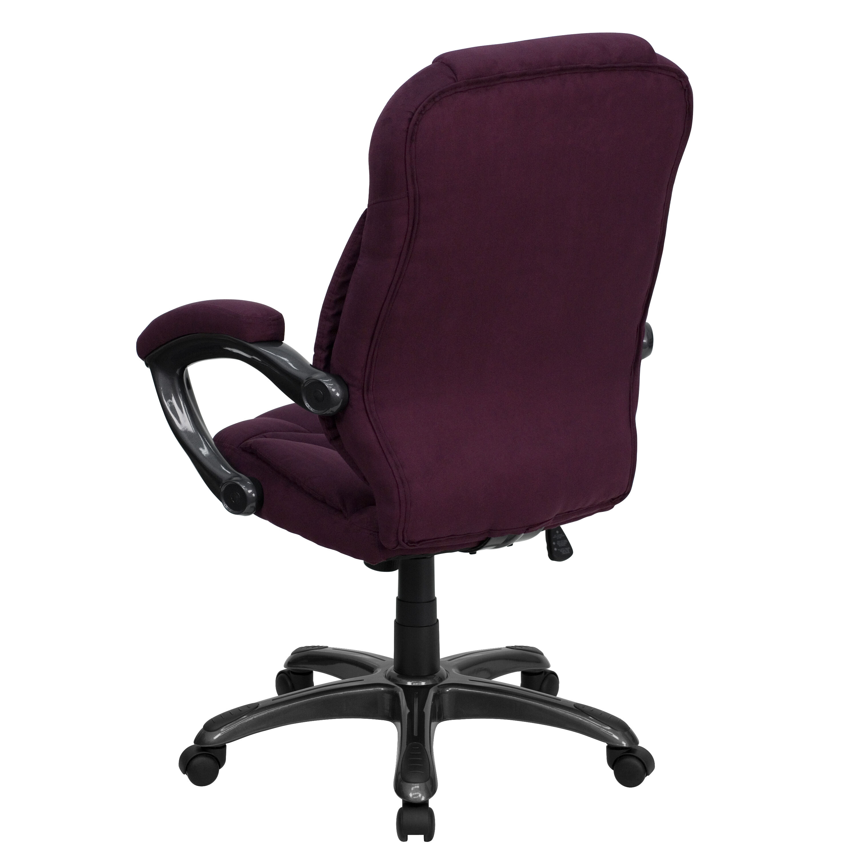 Our High Back Grape Microfiber Contemporary Executive Swivel Chair With  Arms Is On Sale Now.