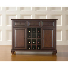 Buffet Server and Sideboard Cabinet with Wine Storage with Cambridge Style Feet - Vintage Mahogany Finish