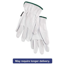 Memphis™ Grain Goatskin Driver Gloves - White - Medium - 12 Pairs