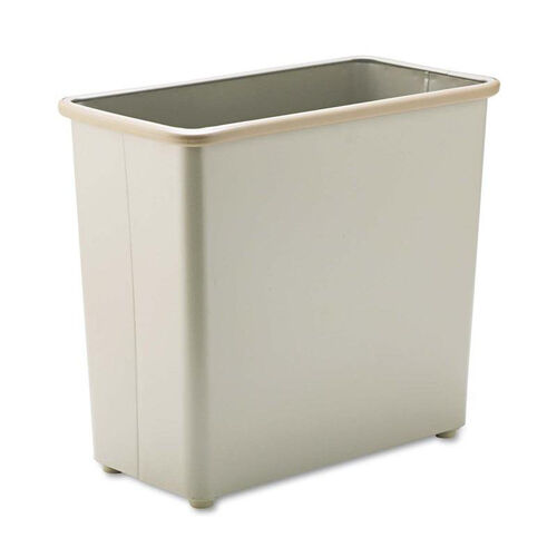 Our Safco® Rectangular Wastebasket - Steel - 27.5qt - Sand is on sale now.
