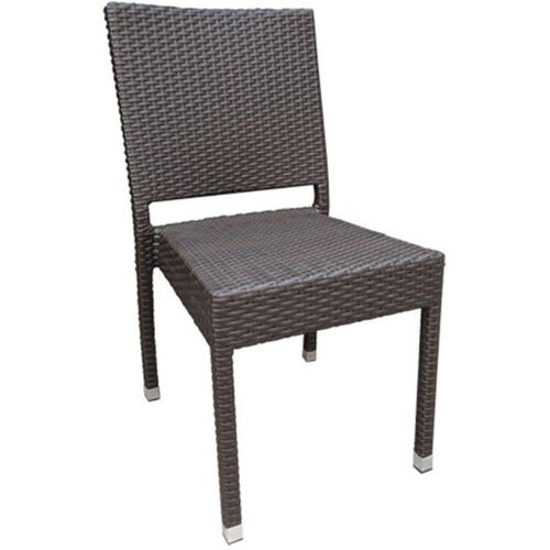 Our Balboa Outdoor Weave Series Armless Chair - Chocolate is on sale now.