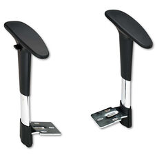 Safco® Adjustable T-Pad Arms for Metro Series Extended-Height Chairs - Black/Chrome