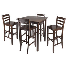 Parkland 5-Pc High Table Set with 4 Ladder Back Chairs
