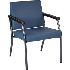 Work Smart Bariatric Big & Tall Guest Chair with 300 lb. Weight Capacity - Dillion Blue Antimicrobial Vinyl