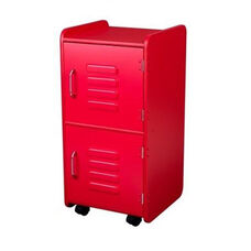 Kids Toys Books and Clothes Storage Medium Wooden Two Door Locker - Red