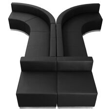 HERCULES Alon Series Black LeatherSoft Reception Configuration, 8 Pieces