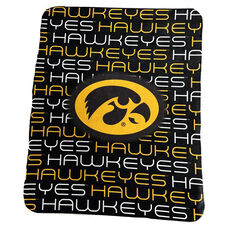 University of Iowa Team Logo Classic Fleece Throw