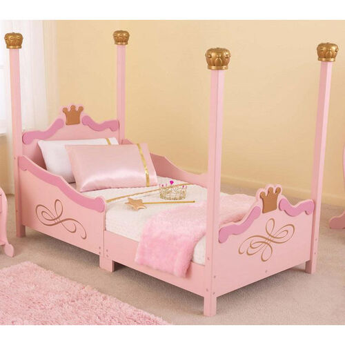 Our Princess Themed Wooden Low Height Toddler Bed with Built in Safety Bed Rails - Pink is on sale now.