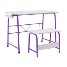 Studio Designs Project Center Set with Matching Bench - Purple