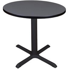 Cain 30'' Round Laminate Breakroom Table with PVC Edge - Grey
