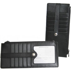Credit Card Wallet - Genuine Leather - Black