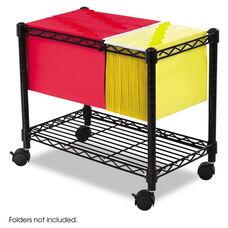 Safco® Wire Mobile File - One-Shelf - 14w x 24d x 20-1/2h - Black