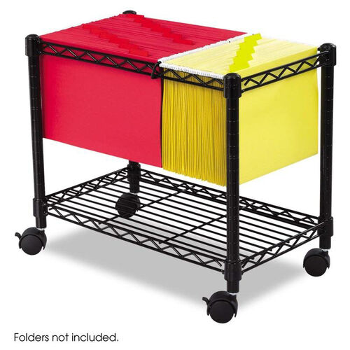 Our Safco® Wire Mobile File - One-Shelf - 14w x 24d x 20-1/2h - Black is on sale now.