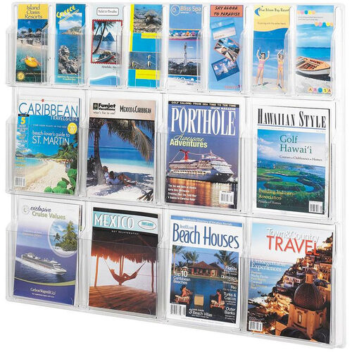 Our Reveal™ Eight Magazine and Eight Pamphlet Thermoformed Display - Clear is on sale now.