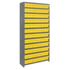 13 Shelf Closed Unit with 36 Large Drawers and 54 Small Drawers - Yellow