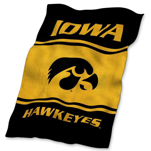 University of Iowa Team Logo Ultra Soft Blanket