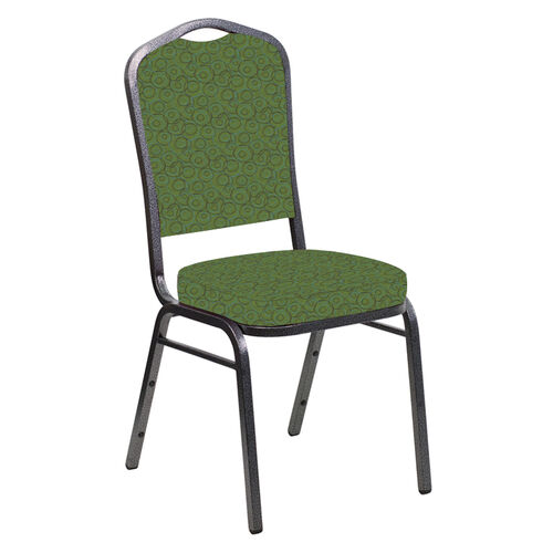 Our Crown Back Banquet Chair in Martini Fabric - Silver Vein Frame is on sale now.