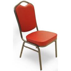 Superb Seating Heavy-Duty Steel Frame Vinyl Upholstered Stacking Chair - Burgundy