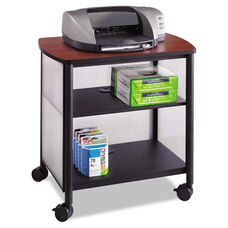 Safco® Impromptu Machine Stand - One-Shelf - 26-1/4w x 21d x 26-1/2h - Black/Cherry
