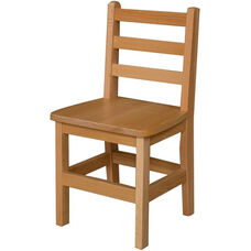 Solid Hardwood Child's Armless Ladderback Chair - 13.75''W x 12''D x 26.25''H