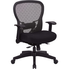 Space R2 SpaceGrid Back Office Chair with Memory Foam Mesh Seat and Height Adjustable Arms