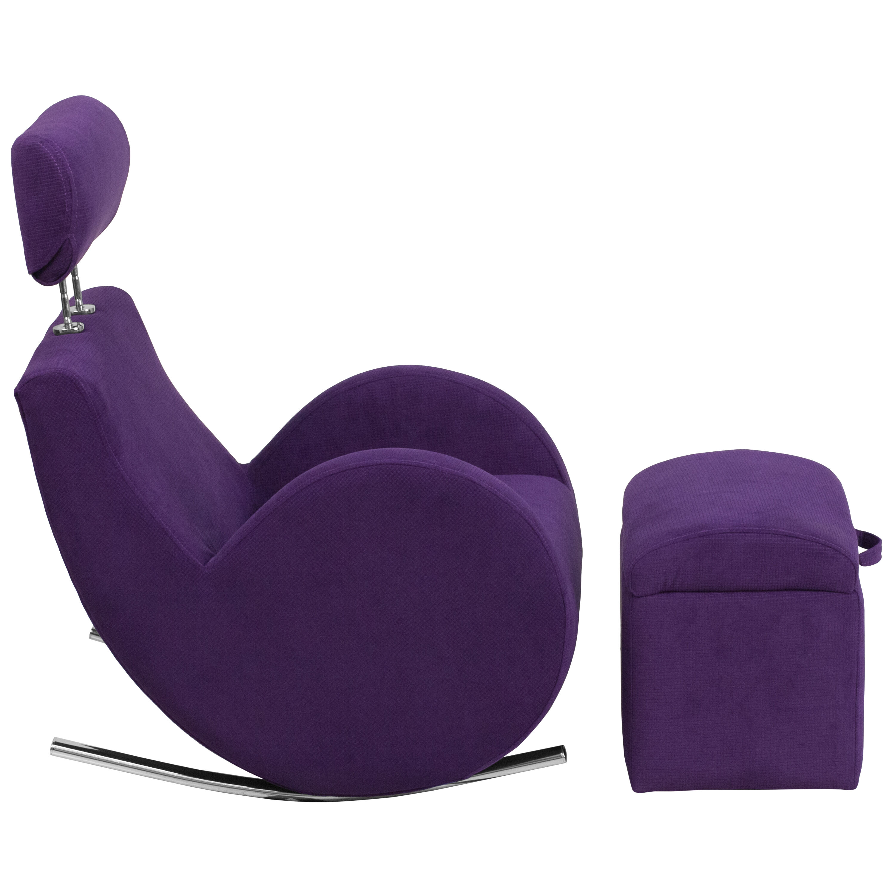 Our HERCULES Series Purple Fabric Rocking Chair With Storage Ottoman Is On  Sale Now.