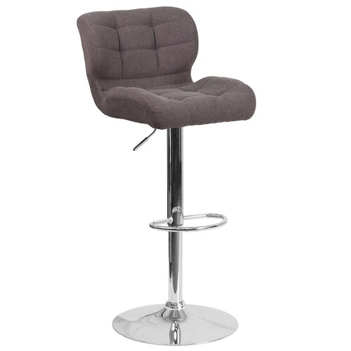 Our Contemporary Tufted Dark Gray Fabric Adjustable Height Barstool with Chrome Base is on sale now.