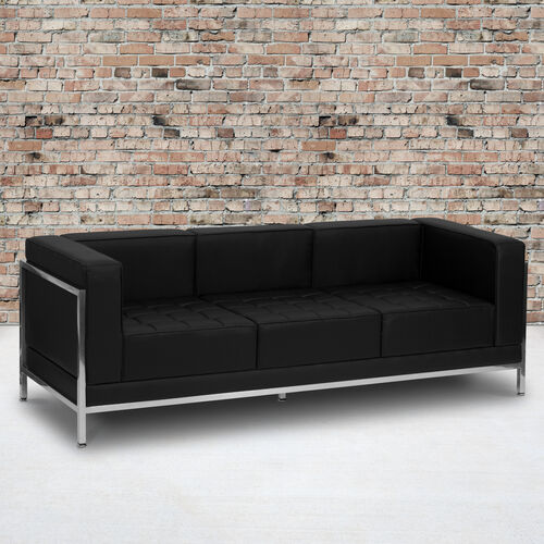 Our HERCULES Imagination Series Contemporary Black LeatherSoft Sofa with Encasing Frame is on sale now.