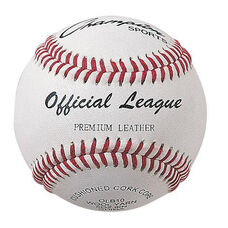 Official League Baseball with Double Cushioned Cork Core - Set of 12