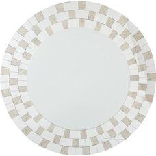OSP Designs Light Gold Frame Round Mirror
