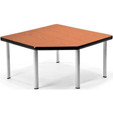 Corner Table with Five Silver Legs - Cherry