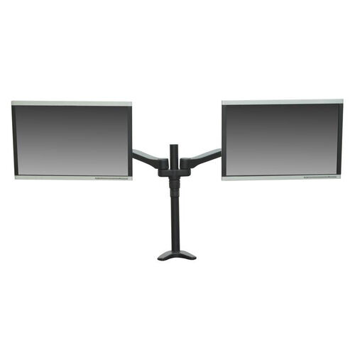 Our Fully Adjustable Metal Frame Double Screen Monitor Mount - Black is on sale now.