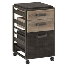 Refinery 3-Drawer Mobile File Cabinet - Rustic Gray