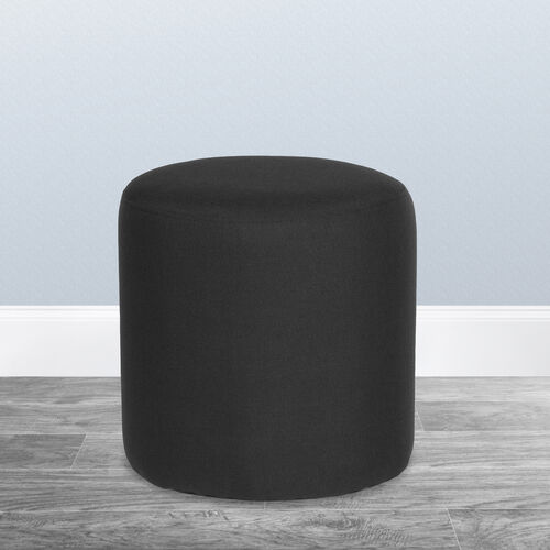 Our Barrington Upholstered Round Ottoman Pouf in Black Fabric is on sale now.