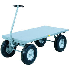 4-Wheeler Wagon Truck With Flush Deck And 4-Ply Pneumatic Wheels - 30
