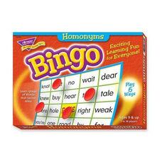 Trend Enterprises Homonyms Bingo Game - 3 -36 Players - 36 Cards/Mats
