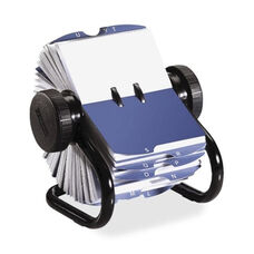 Rolodex Corporation Rotary Business Card File - 400 Card Cap - 200 Sleeves - Black